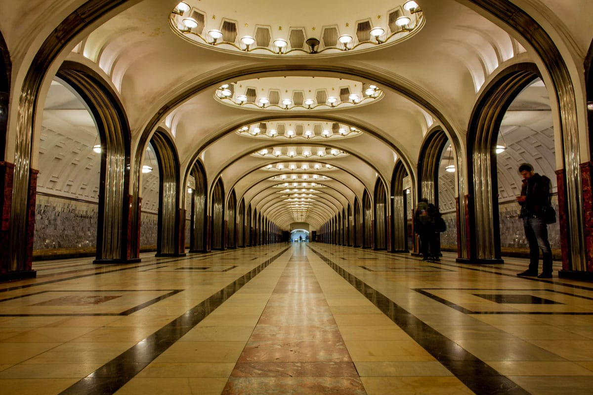 An underground Moscow Metro station